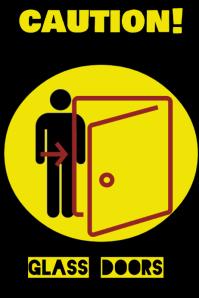 Caution - glass doors