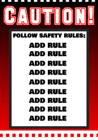 Caution sign, follow safety rules