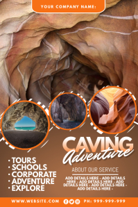 Caving Adventure Poster Plakkaat template