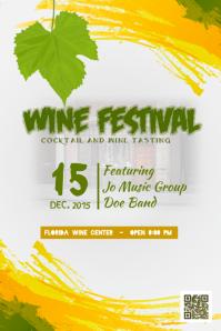 Wine festival poster / Wine tasting flyer template