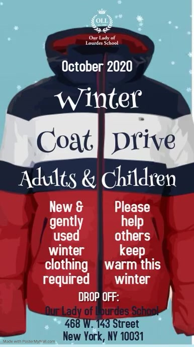 Copy of Winter Clothing Drive Video Template