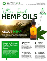 cbd and hemp oil extract advertisement Ulotka (US Letter) template