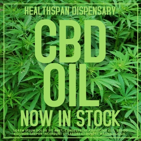 CBD Cannabis Oil Template