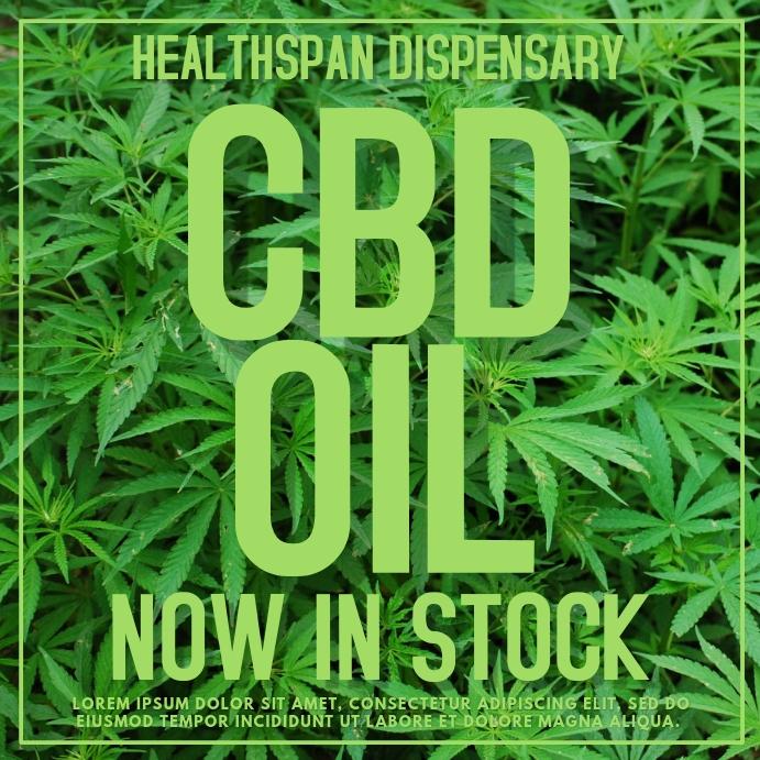 CBD Cannabis Oil Template