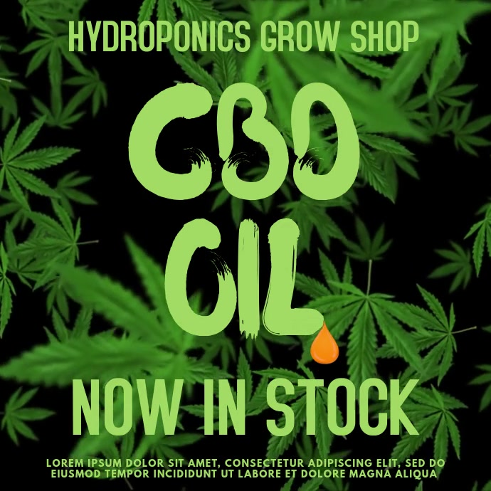 CBD Cannabis Oil Video Template