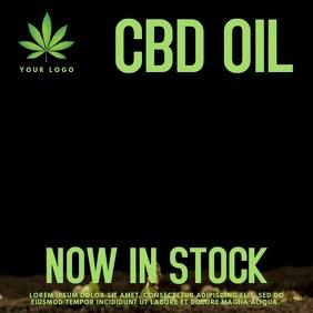 CBD Cannabis Oil Video Template Post Instagram