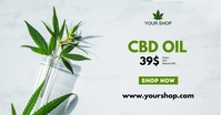 CBD Cannabis Special Offer Price List Ad Sale Facebook Shared Image template