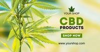 CBD Cannabis Special Offer Price List Ad Sale Facebook Gedeelde Prent template