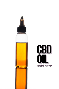 CBD oil available here flyer template