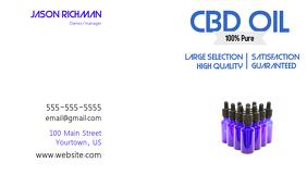 CBD Oil Buisness Card