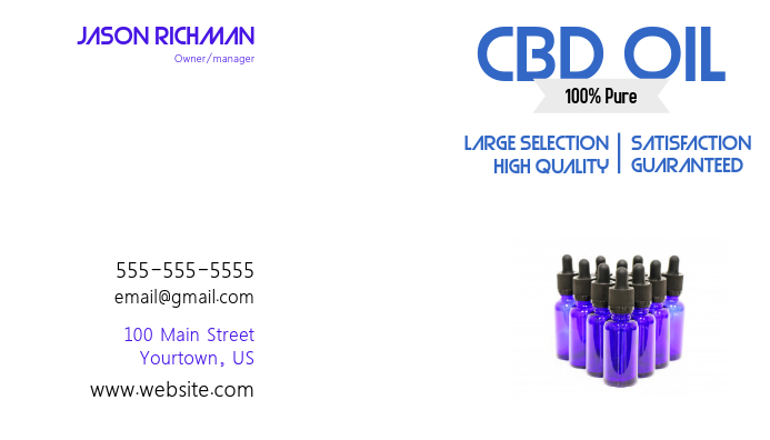 CBD Oil Buisness Card