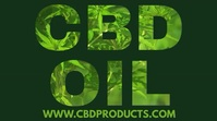 CBD Oil Instagram Post Template Digital na Display (16:9)