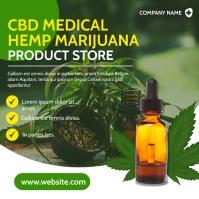 cbd oil store instagram post modern advertise template