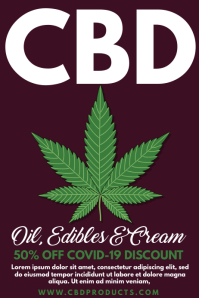 CBD Products On Sale Template