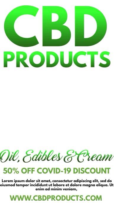 CBD Products On Sale Video Template Digital Display (9:16)