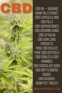 CBD Products Template Plakkaat