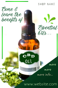 CBT Oil Poster template