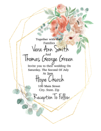 Boho Geometric Wedding Invite