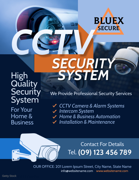 Cctv Security Services Flyer Template Postermywall