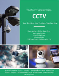 CCTV Business Company Flyer Template