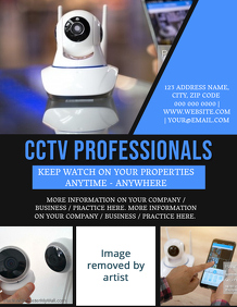 CCTV Business or Company Flyer Template