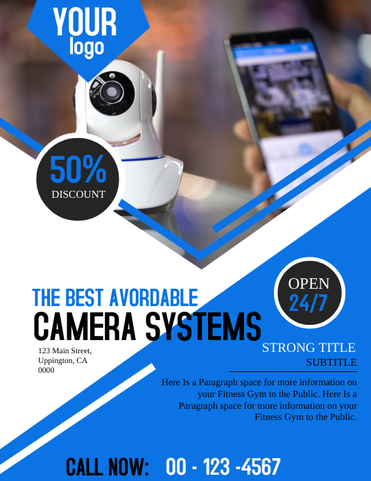 CCTV Camera Business Flyer Template