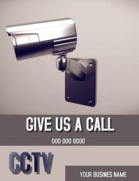 CCTV Camera Flyer Template