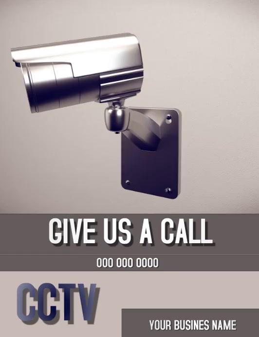 CCTV Camera Flyer Template Volante (Carta US)