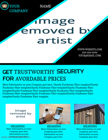 CCTV Company Business Flyer template