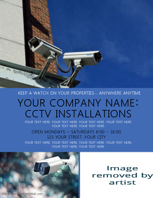 CCTV Company Flyer Template