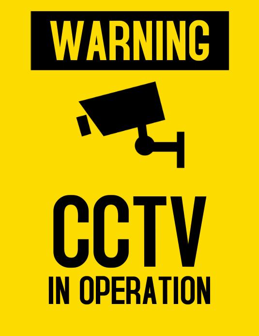 CCTV Warning