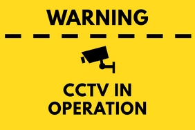 CCTV Warning Poster Yellow
