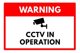 CCTV Warning Sign Poster