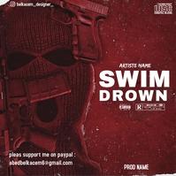 CD cover swim drown template