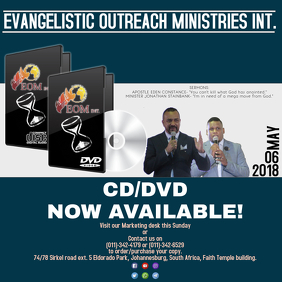 CD/DVD Now Available Template