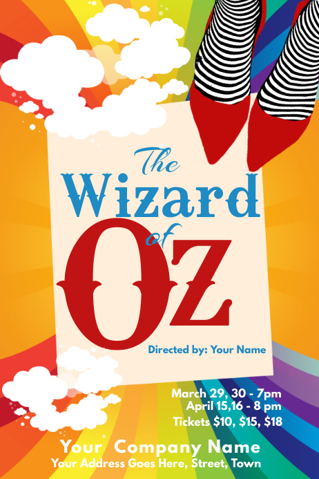Wizard of Oz Theater Poster Template