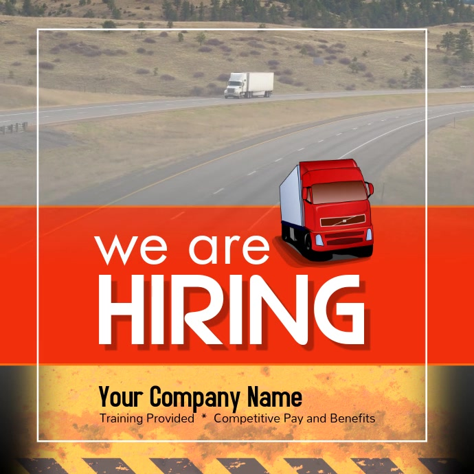CDL Drivers wanted Instagram Instagram-opslag template