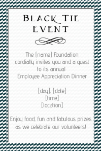 Black Tie Event Small Business Invitation Flyer Poster