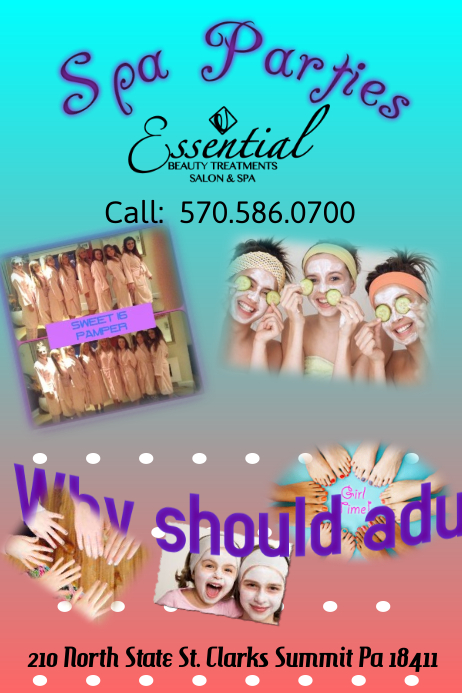 kids spa day flyer Poster template