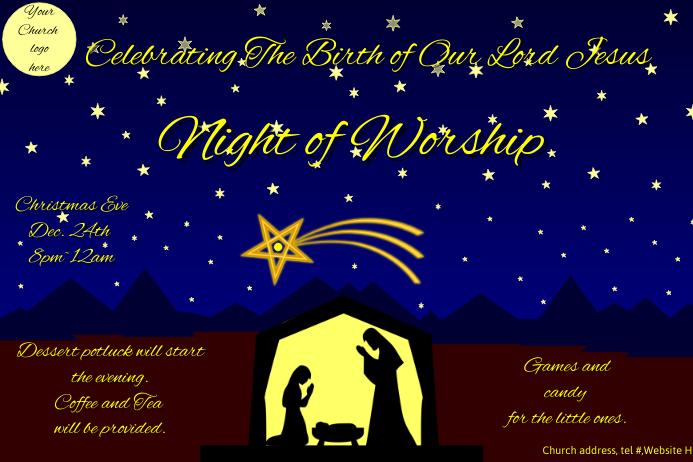 Christian Church Christmas Flyer