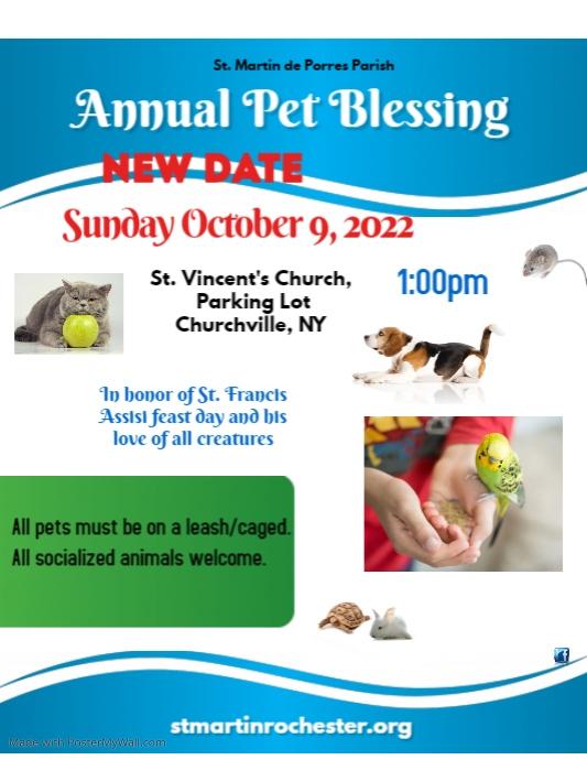 Pet blessing poster draft