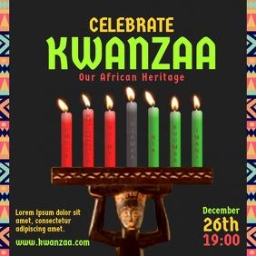 Celebrate Kwanzaa Candle Square Post
