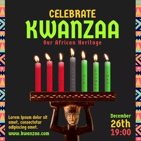Celebrate Kwanzaa Candle video Instagram Post template