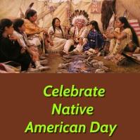 celebrate native american day Instagram Post template