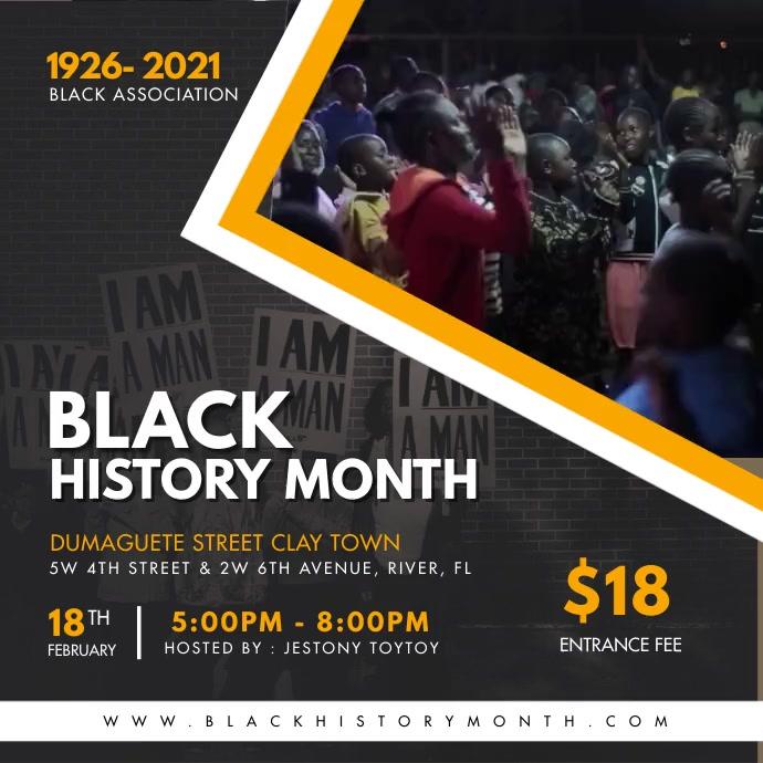 Celebrating Black History Month Instagram Vid Wpis na Instagrama template