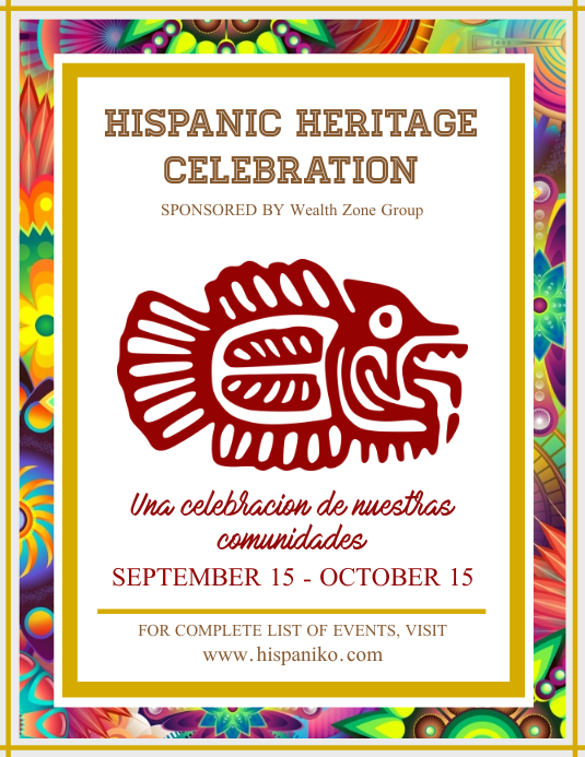 Celebrating Hispanic Heritage Poster Template
