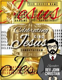 Celebrating Jesus Template 传单(美国信函)