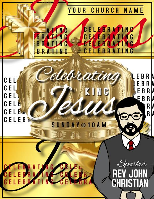 Celebrating Jesus Template Flyer (US Letter)