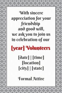 Customizable design templates for invitation announcement poster celebration dinner volunteers retail invite small business stopboris Choice Image