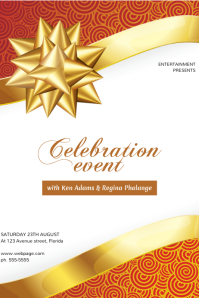 Celebration Event Birthday Gala Gold Flyer template